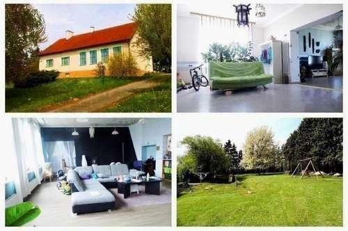 Bezirk Mistelbach/Zwentendorf - Schönes Haus mit Keller, Doppelgarage und großzügigem Garten