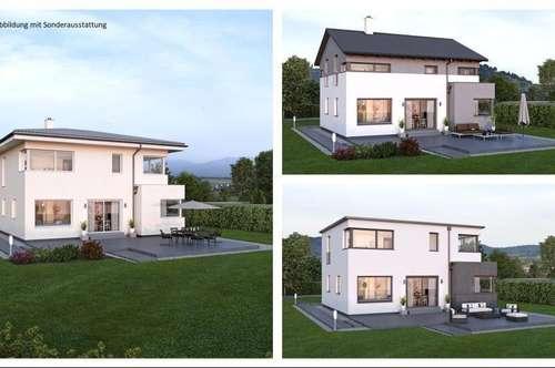 Arnoldstein - Schönes ELK-Design-Haus und ebenes Grundstück (Wohnfläche - 130m² & 148m² & 174m² möglich)