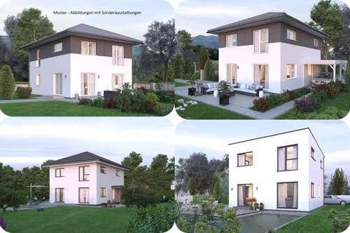 Nahe Nötsch im Gailtal - Elkhaus und Hang-Grundstück mit Fernblick (Wohnfläche - 117m² - 129m² & 143m² möglich)
