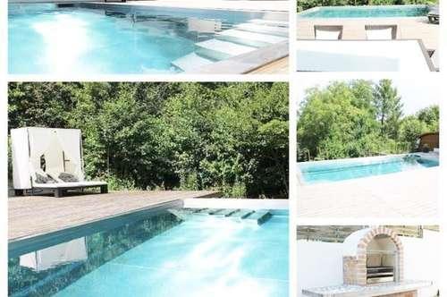 Bezirk/Korneuburg - Einfamilienhaus mit Keller, Doppelgarage und Swimmingpool
