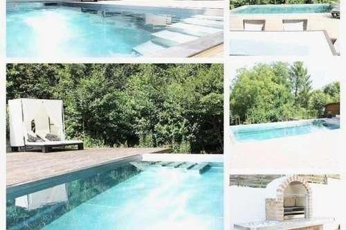 Verhandlungsbasis - Bezirk/Korneuburg  -  Einfamilienhaus mit Keller, Doppelgarage und Swimmingpool