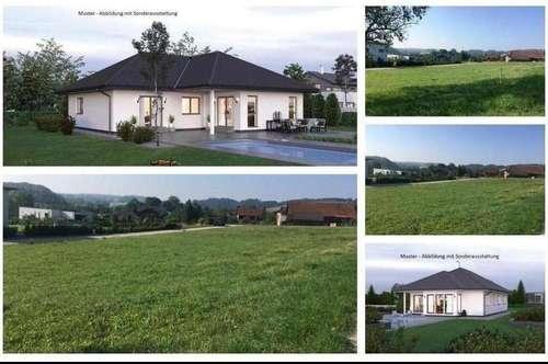 Randlage/Taiskirchen - Schöner ELK-Bungalow und Grundstück (2 Parzellen verfügbar)