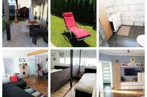 Randlage/Graz - Schöne Gartenwohnung mit 2 Parkplätzen und 2 Gartenhäuser
