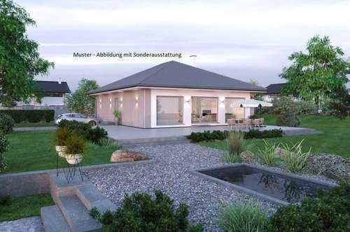 Absdorf/Nahe Tulln - Schöner ELK-Bungalow und Grundstück (Wohnfläche - 104m² & 120m² möglich)