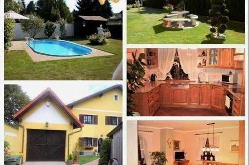 Randlage Wien - Schönes Haus mit Pool, Garage und Gartenhaus