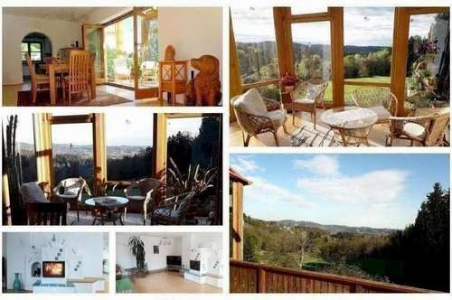 Randlage Andritz - Schönes Haus mit Wintergarten, Balkon, Keller, Doppelgarage und traumhafter Aussicht