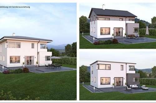 Randlage Wilhering - Schönes ELK-Design-Haus und Süd-West-Hang-Grundstück mit Fernblick (Wohnfläche - 130m² & 148m² & 174m² möglich)