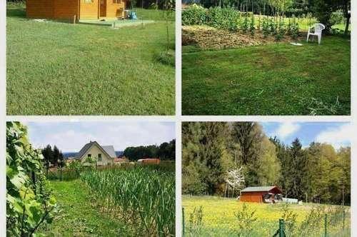 Manning/Nahe Karlsdorf/Graz - Schönes Grundstück mit kleinem Holzhäuschen