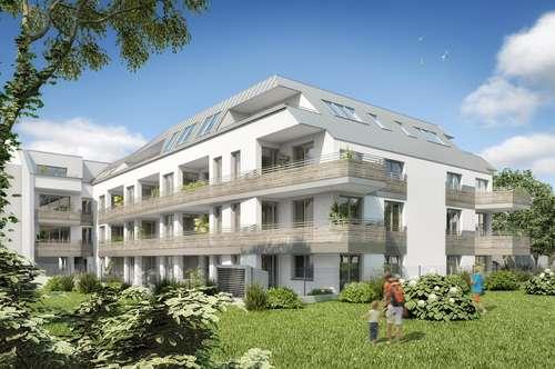 2-Zimmer Neubauwohnung Erstbezug mit 5,62 m2 Loggia, hochwertiger Markenküche und Kellerabteil