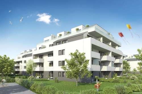 2-Zimmer-Wohnung Neubau mit 12m² Balkon und Kellerabteil - Tiefgarage vorhanden