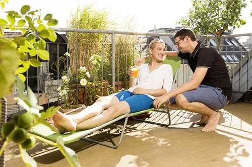 Ideal für Sonnenanbeter Terrasse, Balkon und provisionsfrei!!