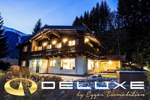 5700 Zell am See: Rarität: ein besonderes Alpen Chalet in Zell am See / ca. 6000m² Grundstück mit Wald, 6 Doppelzimmer, Sauna Landschaft!! touristisch vermietbar !!