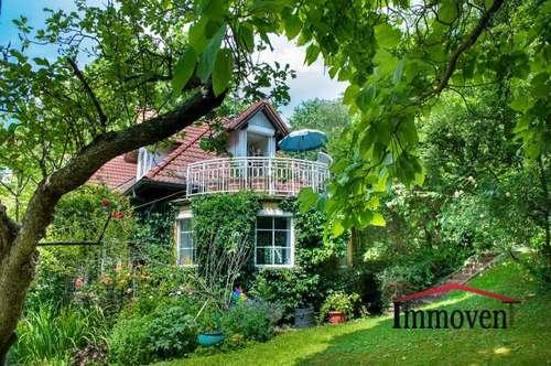 Verträumte und romantische Villa in üppiger Grünruhelage mit Fernblick in Purkersdorf