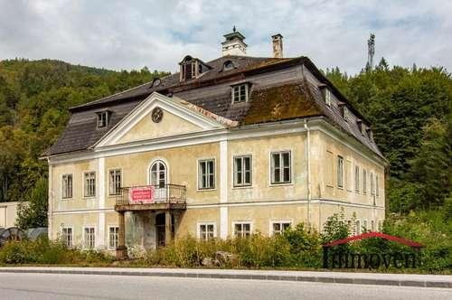 HISTORISCH und ROMANTISCH - EXKLUSIVER LANDSITZ – renovierungsbedürftiges Herrenhaus - auch als Gewerbeobjekt nutzbar