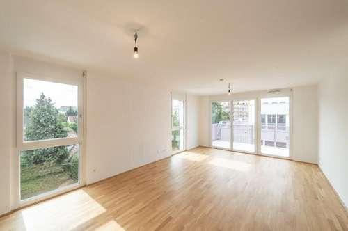 ERSTBEZUG im Q11: Helle, schöne 2 Zimmer Wohnung mit Balkon & Grünblick!