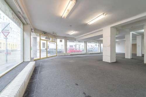 470 m2großes Geschäftslokal mit Verkaufsraum, Büro und Küche in der Taborstraße