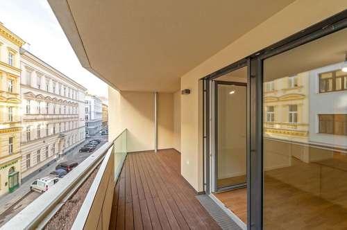 Anspruchsvolles Wohnen in bester Lage: 2 Zimmer + Loggia im Leopold (ERSTBEZUG)!