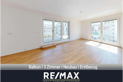 Neubau - Erstbezug | 3 Zimmer | Balkon | Azgersdorf