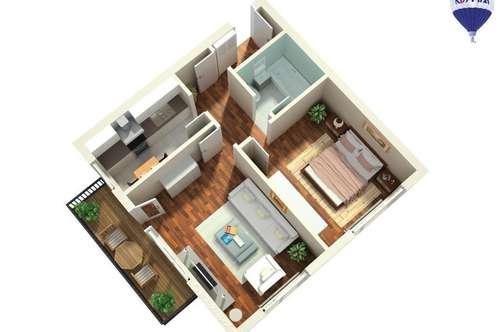 helle 2-Zimmer-Wohnung! Auch für Anleger geeignet!
