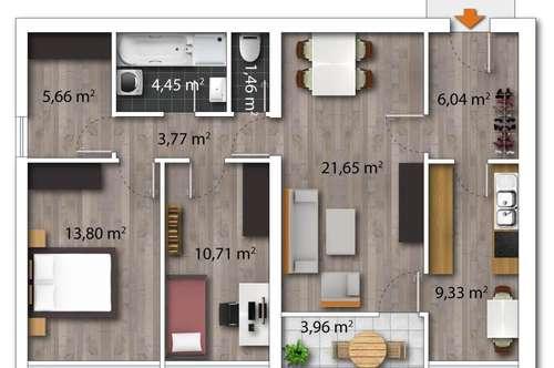 Sanierungsbedürftige 3-Zimmer-Wohnung