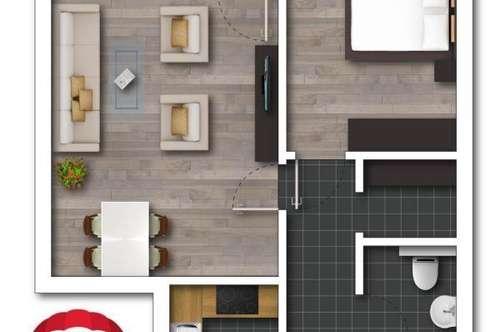 kernsanierte 2-Zimmer-Wohnung