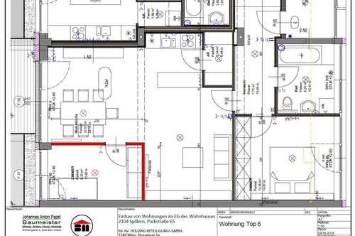 GARTENMIETWOHNUNG Spillern 73,93 m² - mit Küche