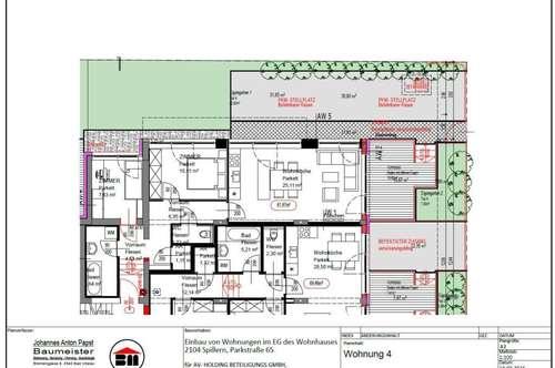 GARTENMIETWOHNUNG Spillern 61,97 m² - sofort - Küche auf Wunsch/Absprache