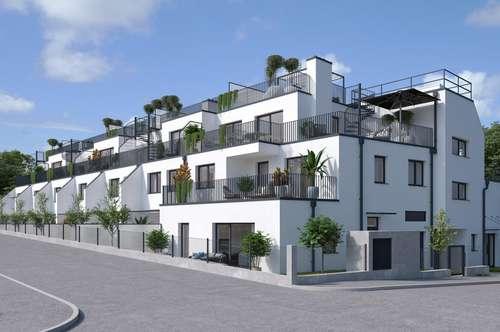 Kurz vor Fertigstellung! PROVISIONSFREI! T7_reihenhausartige 4-Zimmer Maisonette mit Loggia & Garten