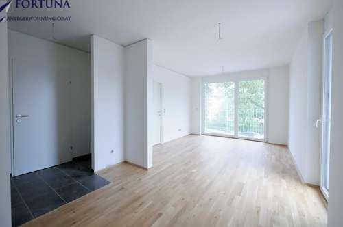 Erstbezug: Perfekte 2-Zimmerwohnung mit großem Balkon! Toller Ausblick, 5.OG!