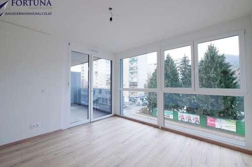 PROVISIONSFREIER Erstbezug: 57m² Wfl. / 3 Zimmer / Balkon u. Wintergarten