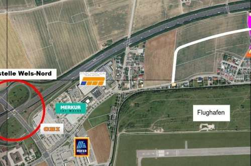 Großflächiges Betriebsbaugebiet für Ihr Unternehmen! ++SOFORT VERFÜGBAR +++WELS NORD +++DIREKT AN DER A25