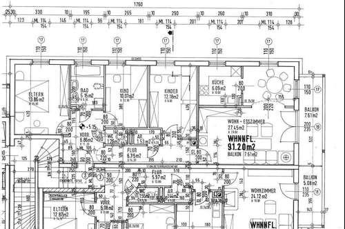 Geräumige 4-Raum Wohnung in Lend