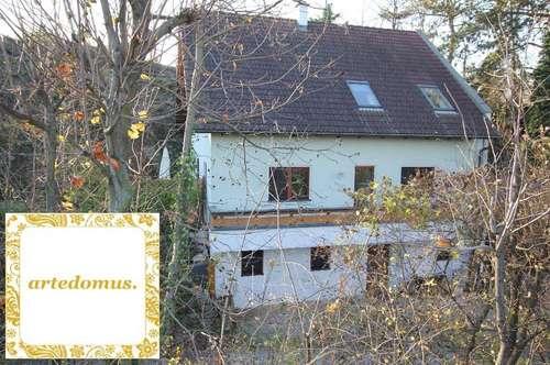 FAMILIENHAUS mit 190 m² Wohnfläche u. 6 Zimmer in IDYLLISCHER RUHELAGE - 20 Min vom nordöstlichen Stadtrand Wiens