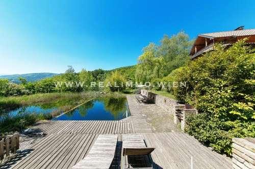 2560 Aigen VIDEO Einfamilienhaus mit Gästehaus auf weitläufigem Grundstück und Schwimmbiotop