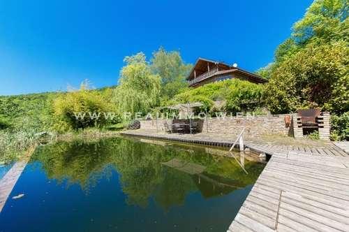 VIDEO Einfamilienhaus mit Gästehaus auf weitläufigem Grundstück und Schwimmbiotop