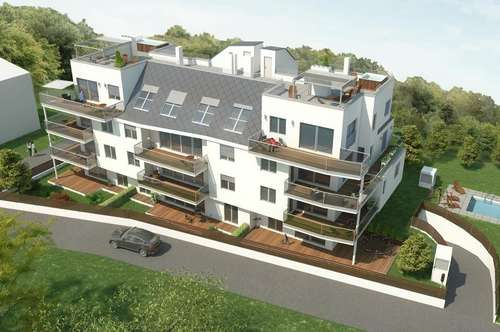 Vorsorgewohnung: Neubau Gartenwohnung in Ruhelage am Fuße des Gallitzinberges