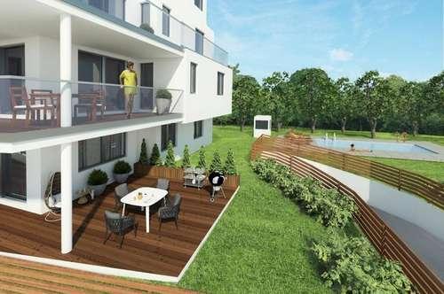 Garten PUR! Neubauwohnung mit riesigem eigenen Garten und Terrasse