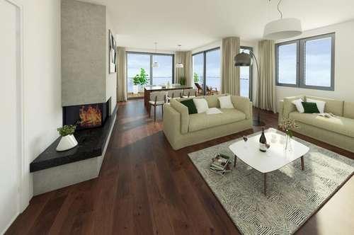 Neubau/Erstbezug - großzügige Familienwohnung mit 2 Balkonen in bester Grünruhelage