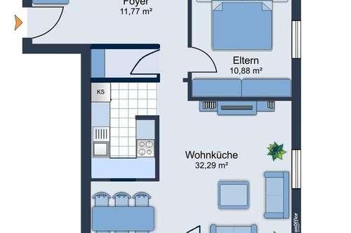 freundliche 3 Zimmer Wohnung in Mils