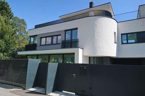 Luxus-Reihenhausanlage mit topmodernen Reihenhäusern, Eigengärten und großen Dachterrassen mit Rundum-Blick