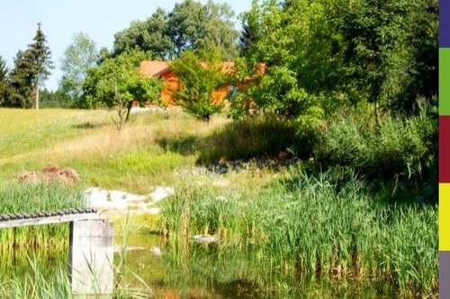 Land und Forstwirtschaft mit schöner Panorama Fernsicht
