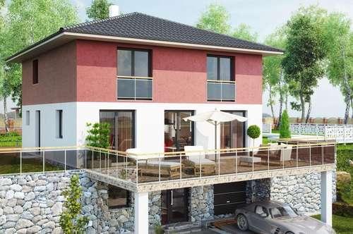 Neues Einfamilienhaus in leichter Hanglage