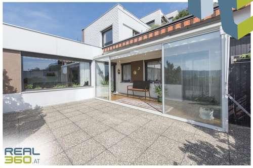 Attraktive Terrassenwohnung mit Blick über die Stadt bis zum Pöstlingberg!