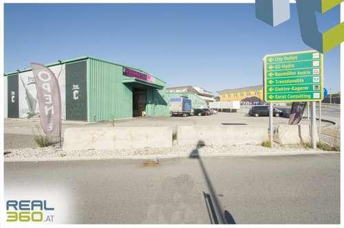 Lagerhalle mit Rolltor nahe der Plus City in Pasching zu vermieten!!