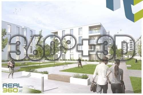 PROVISIONSFREI - SOLARIS am Tabor! Förderbare Neubau-Eigentumswohnungen im Stadtkern von Steyr zu verkaufen! Top 4 - BELAGSFERTIG!