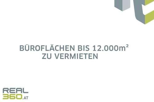 Neubau-Büroflächen bis ca. 12.000m² in Linzer Zentrumslage zu vermieten!
