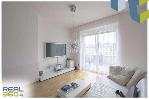 3-Zimmerwohnung mit möblierter Küche und Dachterrasse!