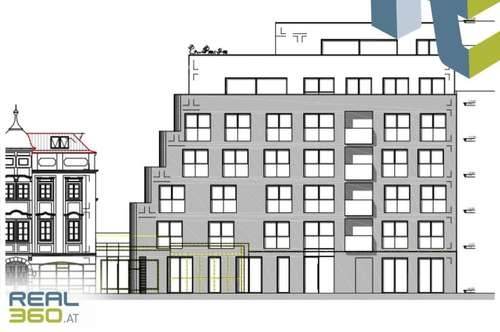 Neubau Büro-/Geschäftsfläche in der Linzer Innenstadt zu vermieten!