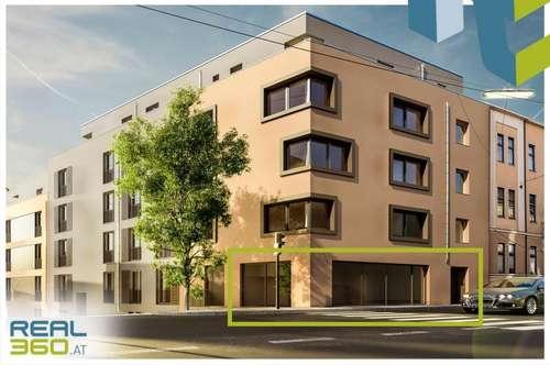 Gastrolokal in modernem Neubau direkt an der Rudolfstraße zu vermieten!