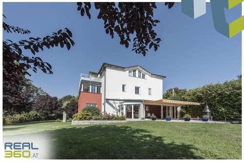 Edelvilla mit idyllischem Teich und allen Finessen zu verkaufen - nur 20 Minuten von Linz entfernt!